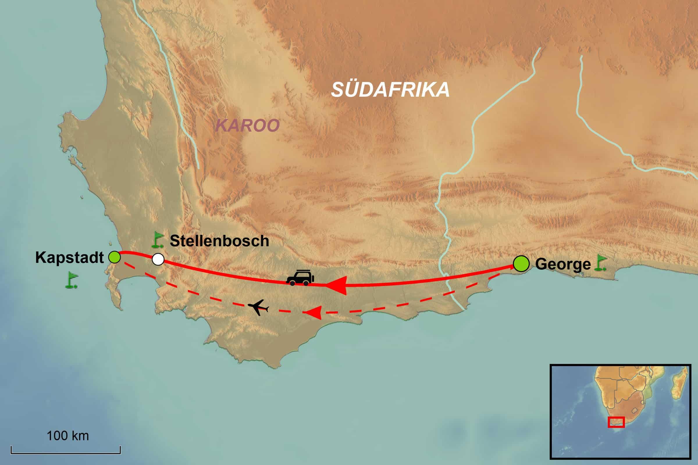 Südafrika Karte Pdf.Golf Rundreise Südafrika Golf Und Wein Green Golf